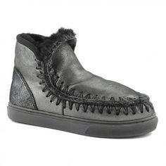 Mou Mini Eskimo Sneaker Women Microglitter Black #perfectpair #Classic #wintershoes