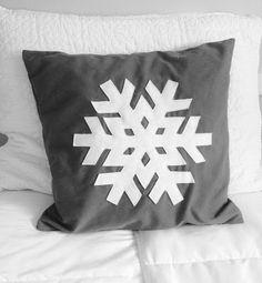 Let It Snowflake Pillow DIY