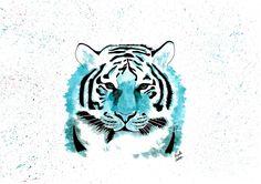 #watercolor #aquarela #aquarelle #tigre #tiger