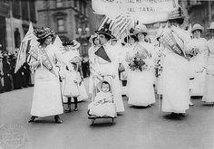 Suffragette march.