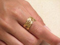 Weddings Ring for Women 14k gold Women by nuritdesignjewelry