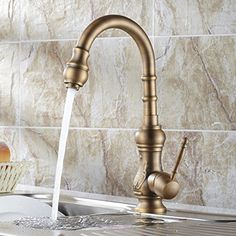 all-copper Antique Continental Vegetables basin kitchen faucet All copper hot and cold Kitchen sink faucet Rotatable ** Click here for more details @ http://www.amazon.com/gp/product/B01EN719P0/tag=homeimprtip08-20&fg=130716003829
