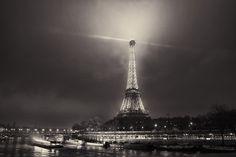 Foggy Paris BW, by Mike Kremer.