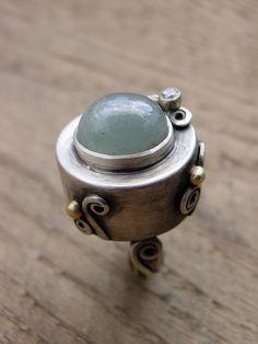 Wonderland Sterling Silver Ring by ReaganHayhurst, via Etsy.