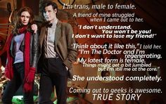 Trans coming-out via Doctor Who. Transgender Ftm, Transgender Community, Bisexual Coming Out, Latest Form, Trans Man, Comic, Don't Blink, My Struggle, Telling Stories