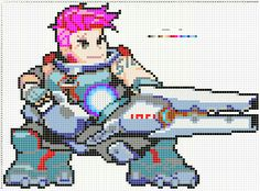Overwatch Pixel Spray Pattern: Zarya