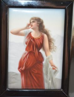 Excited to share the latest addition to my #etsy shop: Antique Porcelain Plaque Echo Mythical Figure German Hand Painted Porcelain Wall Art Victorian Art Nouveau Decor http://etsy.me/2CvCxOB #art #painting #porcelainplaque #paintingporcelain #berlinplaque #christiescur