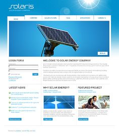 Solaris Solar Joomla Templates by Hugo