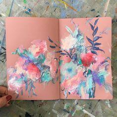 @sonaln on Instagram- floral art journal inspiration