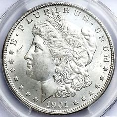 1901-O Morgan Silver Dollar graded MS66 by PCGS