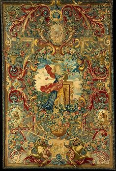 Possibly after a design by Charles Le Brun, (French, 1619–1690). Seasons and Elements (Spring) (set of four), ca. 1683. The Metropolitan Museum of Art, New York. Rogers Fund, 1946 (46.43.1) #spring