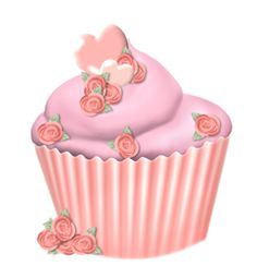 "Photo from album ""Pinky Peach Valentine"" on Yandex. Cupcake Pictures, Cupcake Images, Ice Cream Cupcakes, Cute Cupcakes, Cartoon Cupcakes, Cupcake Clipart, Spring Cupcakes, Cupcake Drawing, Vintage Ice Cream"
