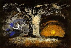 John Piper - Earth for Job 1948 by Martin Beek Nocturne, Landscape Art, Landscape Paintings, Landscape Prints, Landscapes, John Piper Artist, Soul Art, Paintings I Love, Painting & Drawing