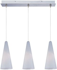 "0-157416>24""""w Minx Xenon 3-Light Linear Pendant Satin Nickel"