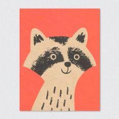 Klappkarte Raccoon 2,50 EUR nordliebe.com