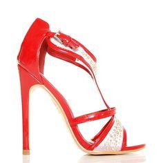 Sandały - Czerwono Białe - Mega Urocze Kropeczki - www.BUU.pl