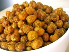 Roasted Chickpeas w/ Indian Spices