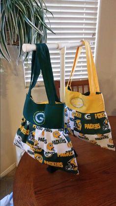 New Packer purses I made.