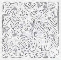 Mola Retro Fox Quilting Square (Single Run)