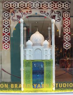 Taj Mahal by Nathan Vincent. The Spring window Display for 2014.