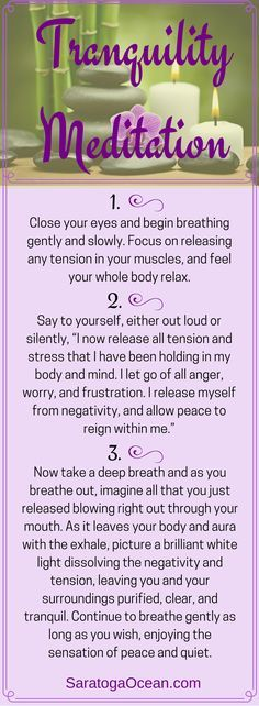 Here is a quick meditation that will help you restore peace within. Stress, anger, frustration, and worry can all take a toll on you physically, mentally, and emotionally. Take a few minutes to let these negative feelings go and restore inner peace for yourself whenever you need to.