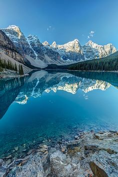 Moraine Lake Blues in Banff National Park, Alberta, Canada
