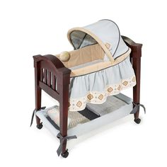 The Carters Classic Comfort Wood Bassinet is an ideal place for your sleeping newborn. It can easily be wheeled into the parent's bedroom so baby can be by your side at night. The Bassinet feature Wood Bassinet, Baby Bassinet, Baby Shower List, Large Storage Baskets, Mini Crib, Baby Swings, Toddler Gifts, Toddler Stuff, Babies R Us