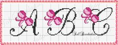 Artes e bordados da Sol: Monograma dos Lacinhos Minnie Baby, Baby Disney, Air Balloon, Balloons, Crochet Letters, Alphabet Crafts, Baby Cats, Letters And Numbers, Embroidery Stitches