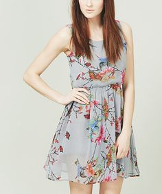 Take a look at this Gray & Pink Botanical Garden Dress by Sugarhill Boutique on #zulily today!