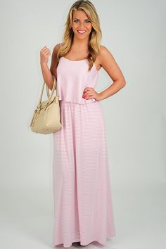 Slip On The Fun Dress: Baby Pink/White - Use the promo code HOLLIREP to get 10% off of every order plus get FREE SHIPPING with no minimum purchase!