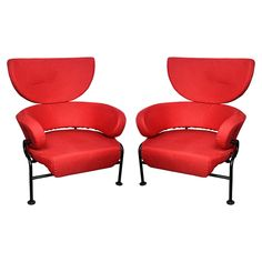 Pair of 1957 Armchairs by Franco Albini   From a unique collection of antique and modern armchairs at https://www.1stdibs.com/furniture/seating/armchairs/