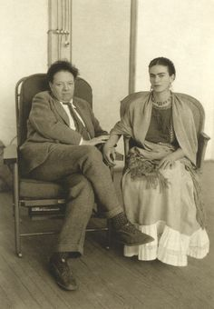 Frida Kahlo and Diego Rivera by Manuel Alvarez Bravo, c. 1931