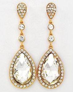 Gold Teardrop Earrings - Sears