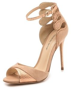 Alexandre Birman Suede & Snakeskin Sandals