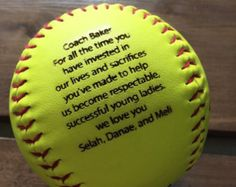 SALE Engraved Softball Custom Message Softball Softball