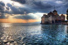 A Beleza Mágica Dos Castelos      Castelo Chillon, Suíça