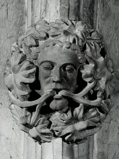 Hereford Cathedral Green Man. Photograph Gary Truss & Jennie Miller