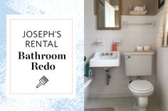 Rental Bathroom Makeover elements can add a touch of style and design to any house. Rental Bathroom Makeover can imply many things to many individuals… Budget Bathroom Remodel, Rental Bathroom, Shower Remodel, Bathroom Remodeling, Restroom Remodel, Remodeling Ideas, Tub Remodel, Bathroom Makeovers, Apartment Therapy