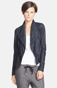 Vince 'Paper' Leather Scuba Jacket available at #Nordstrom