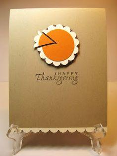 SWEET PEA - BUNNY: Please Pass the Pumpkin Pie - Thanksgiving Card