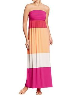 Womens Tube-Top Maxi Dresses | Old Navy. Want...in every single color!