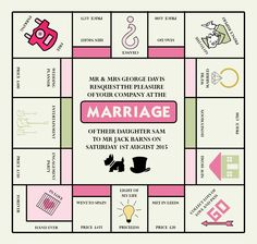 Monopoly Invitation For A Game Night Bridgeywidgey Parties within dimensions 1600 X 1162 Monopoly Invitation Template - After numerous years of hard work, Geek Wedding Invitations, 60th Birthday Party Invitations, Graduation Invitations, Personalized Invitations, Wedding Invitation Design, Invites, Board Game Wedding, Wedding Games, Monopoly Theme