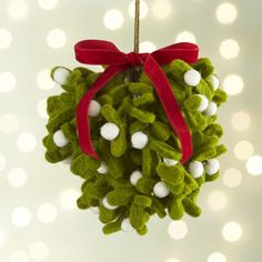 Felt Mistletoe Ball | Crate and Barrel