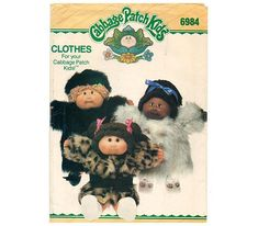 Sewing Pattern  Cabbage Patch Kids Doll Clothes  Fur Coat &