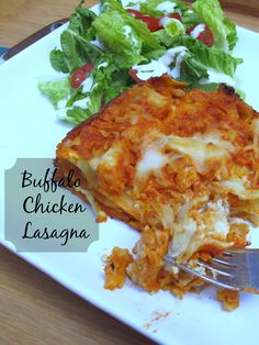 "Lasagna with chicken, lots of cheese and a creamy buffalo sauce. So good, my husband rated it a  ""10 for sure!"""