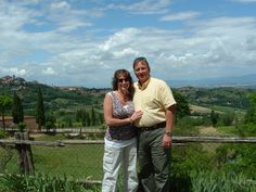Don & I celebrating 25yrs in Tuscany, Italy, going back this year for 30th Anniversary