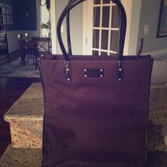 """Never Used Kate spade tote Top opening w/zip closure Patent leather details Gold-tone hardware Double handles Height 14"""" Width 13"""" Depth 4"""" Handle drop 8.5"""" kate spade Bags Totes"""