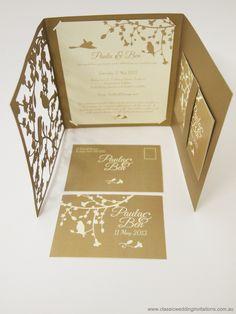 Melbourne Laser Cutter » Laser Cut Trifold Garden Wedding Invitation - http://melbournelasercutter.com.au/laser-cut-trifold-garden-wedding-invitation/