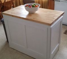 Once the paint is dry you can attach the DIY kitchen island into your kitchen floor using the proper fasteners