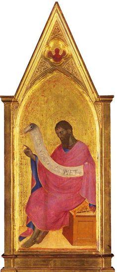 Giovanni da Milano - San Giovanni Battista - c. 1365 - tempera e oro su tavola -  National Gallery, London